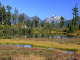 Picture Lake  Ruth Mountain  Heather Meadows Recreation Area  Washington  Usa