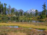 Picture Lake  Ruth Mountain  Heather Meadows Recreation Area  Washington  Usa