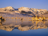 Lake Reflections in South Tufa Area  Mono Lake  California  Usa