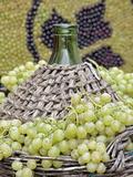 Grapes and Wine Bottle  Impruneta  Italy  La Festa Dell'Uva  Tuscany