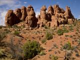 Garden of Eden Area  Arches National Park  Utah  Usa