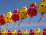Red and Yellow Chinese Lanterns Hung for New Years  Kek Lok Si Temple  Island of Penang  Malaysia