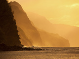 Sunset  Kee Beach  Napali Coast  Kauai  Hawaii