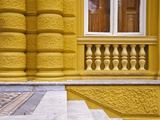 Building Detail of the Municipal Chamber of Petropolis or Yellow Palace  Petropolis  Brazil