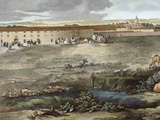 Spanish Royal Site Seen from the Arca Del Agua Detail by Domingo De Aguirre (18th Century)
