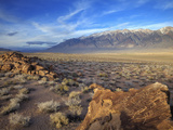 Great Basin Curvilinear Abstract-Style Petroglyphs  Bishop  California  Usa