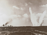 WWII (1939-1945) Underwater Mine Explosion