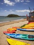 Kayaks on Beach  Paihia  Bay of Islands  Northland  North Island  New Zealand