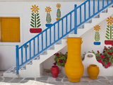 Flowers and Colorful Pots  Chora  Mykonos  Greece