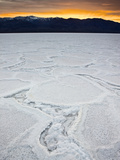 Badwater Basin  Death Valley National Park  California  Usa