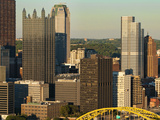 Taken from Mt Washington  Skyline and the Three Rivers  Pittsburgh  Pennsylvania  Usa