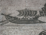 Roman Mosaic  Commercial Boat  from the Forum of the Corporations or Piazza Delle Corporazione