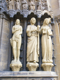 Statues at the Entrance of the Church of Our Dear Lady  Rhineland-Palatinate  Trier  Germany