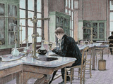 French Chemist and Bacteriologist Study of Microbes in the Pasteur Institute