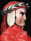 Dante Alighieri (1265-1321) Italian Poet by Pannemaker