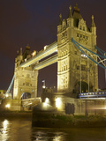 Tower Bridge and River Thames at Dusk  London  England  United Kingdom