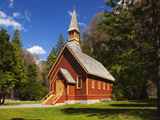 View of Yosemite Chapel in Springtime  Yosemite National Park  California  Usa