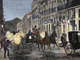 Attack on Isabella Ii (1830-1904) and King Francis of Spain (1822-1902) Madrid  Spain (1872)