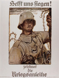 World War I (1914-1918) Poster  Help Us Win  by Fritz Erler (1868-1940)