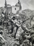 First World War (1914-1918) Inhabitants of Town of Serbia Fight Against Austrian Troops (1914)