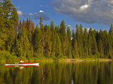 Sea Kayaking on Rainy Lake in the Lolo National Forest  Montana  Usa