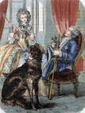 Louis Xv (1710-1774) King of France (1715-1774) and Marie Jeanne Becu  Comtesse Du Barry
