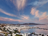 Mykonos Harbor at Sunset  Mykonos  Greece