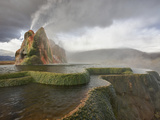 Composite of Fly Geyser at Sunrise  Gerlach  Nevada  Usa