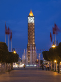 Place Du 7 Novembre 1987 Clocktower  Avenue Habib Bourguiba  Tunis  Tunisia