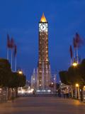 Place Du 7 Novembre 1987 Clocktower  Avenue Habib Bourguiba  Tunis  Tunisia