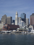 Boston Harbor  Long Wharf  Boston  Massachusetts  New England  Usa