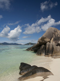 Anse Source D'Agent  Popular White Sand Beach  Island of La Digue  Seychelles