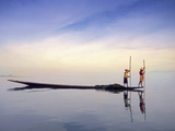Fishing Boat Reflected on Inle Lake  Burma