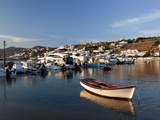 Boats in Harbor  Chora  Mykonos  Greece