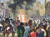 Burning Templar in the 14th Century (1851)