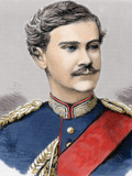 King of Bavaria (1886-1913) Successor of Louis Ii (1886) 19Th-Century Colored Engraving
