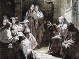 Cloistered Nuns  Gospel Reading  19th Century