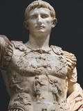 Augustus (61 Bc-14 Ad) First Roman Emperor  Marble Statue of Augustus of Prima Porta (1st Century)