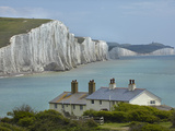 Seven Sisters Chalk Cliffs  Cuckmere Haven  Near Seaford  East Sussex  England