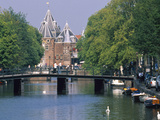 Kloveniers Burgwal Canal  the Waag  Amsterdam  North Holland  the Netherlands