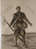 World War I (1914-1918) Allied Soldier La Ilustracion Francesa  1918
