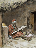 An Old Man Teach to Write a Child  French Sudan  1893