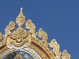 Detail of Ornate Golden Entry Gate  Thai Buddhist Temple  Island of Penang  Malaysia