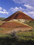 Red Claystone Mounds in the Painted Hills Unit  John Day Fossil Beds National Monument  Oregon  Usa