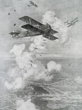 Breguet Aircraft Bombing Drawing by Etienne CournaultLa Ilustracion Francesa (1918)