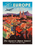 Pan American: Fly to Europe by Clipper  c1940s