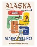 Alaska Airlines: Alaska - Golden Nugget Service  c1950s