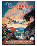 Pan American: Fly to the Caribbean by Clipper, c.1940s Giclée par M. Von Arenburg