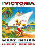 Victoria Incres Line: West Indies - Luxury Cruises, c.1971 Giclée