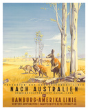 Hamburg America Line: Australian Outback  c1935